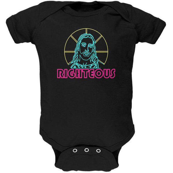 80's Neon Righteous Jesus Christ Religion Soft Baby One Piece