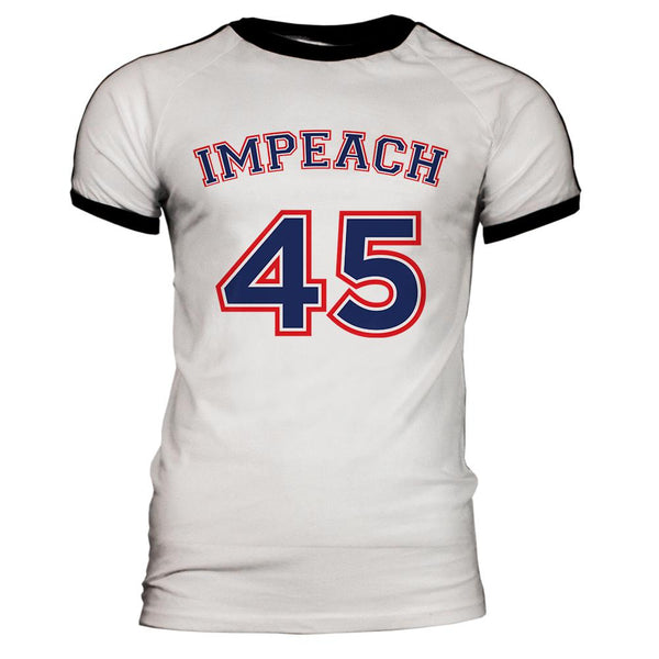 Impeach 45 45th President Donald Trump Mens Soccer Jersey T Shirt