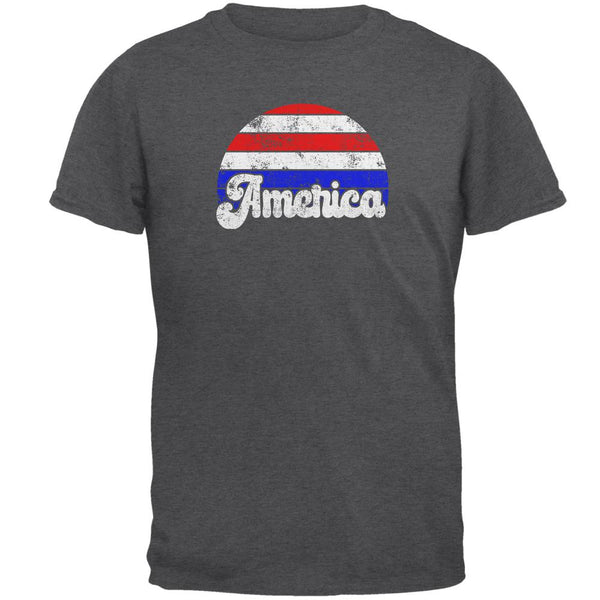 4th of July Vintage Distressed America Sunrise Mens T Shirt