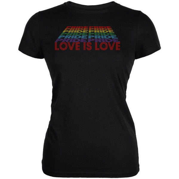 LGBTQ Pride Rainbow Love is Love Juniors Soft T Shirt