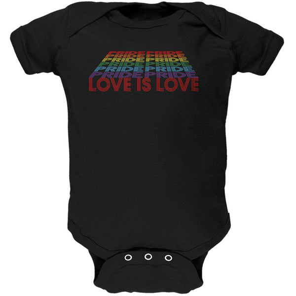 LGBTQ Pride Rainbow Love is Love Soft Baby One Piece