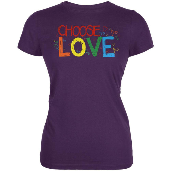 LGBTQ Choose Love Juniors Soft T Shirt