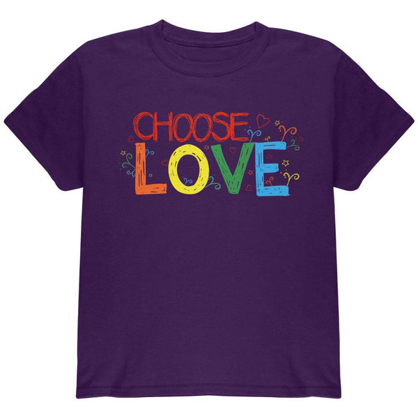 LGBTQ Choose Love Youth T Shirt
