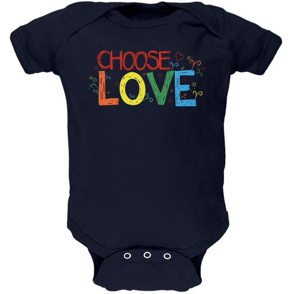 LGBTQ Choose Love Soft Baby One Piece
