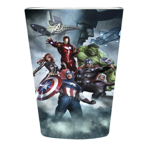 Avengers - Group in Clouds Pint Glass