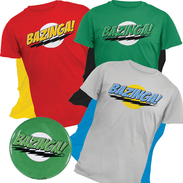 Big Bang Theory 3pc T-Shirt with Detachable Cape Gift Pack