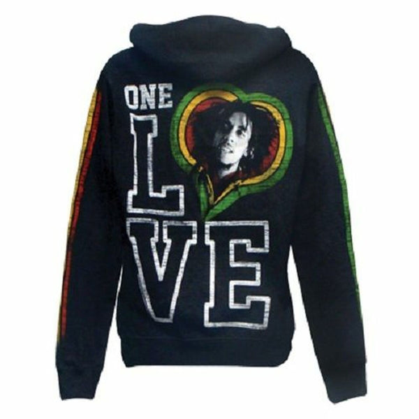 Bob Marley - One Love Smile Womens Zip Hoodie
