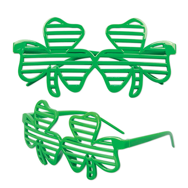 St. Patricks Day Leprechaun Costume All Over Adult T-Shirt and Shamrock Glasses Combo