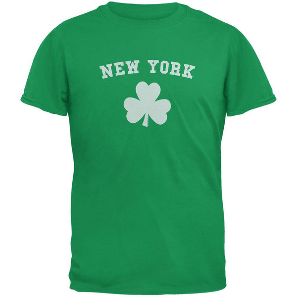 St. Patrick's Day - New York Shamrock Green Adult T-Shirt