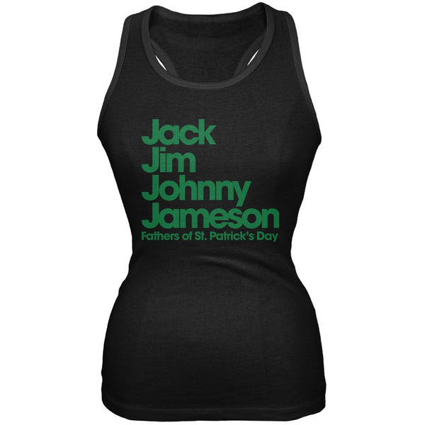 St. Patricks Day - The Four Fathers of St. Patrick's Day Black Juniors Tank Top