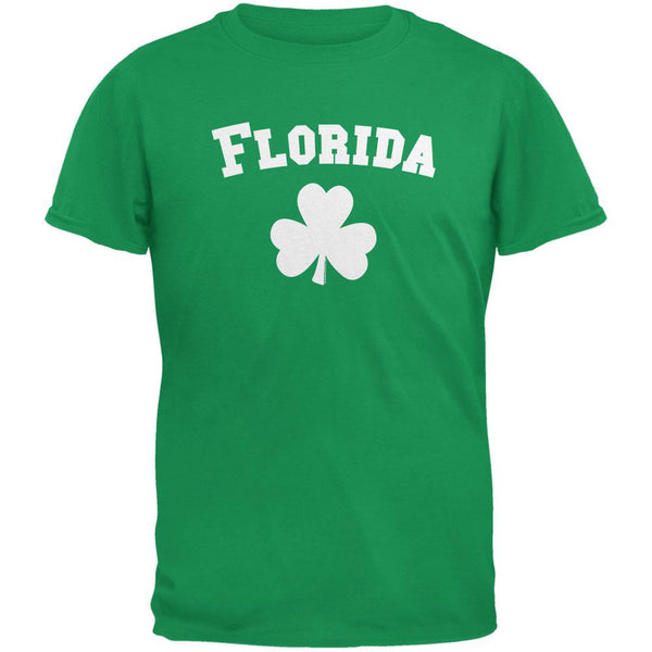 St. Patrick's Day - Florida Shamrock Irish Green Adult T-Shirt