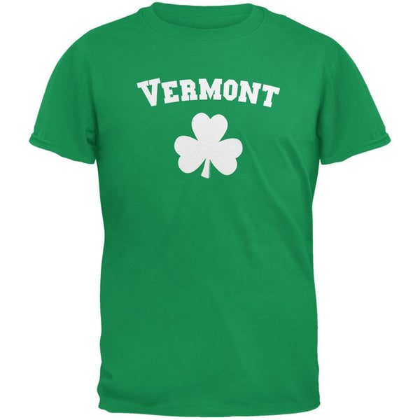 St. Patrick's Day - Vermont Shamrock Irish Green Adult T-Shirt