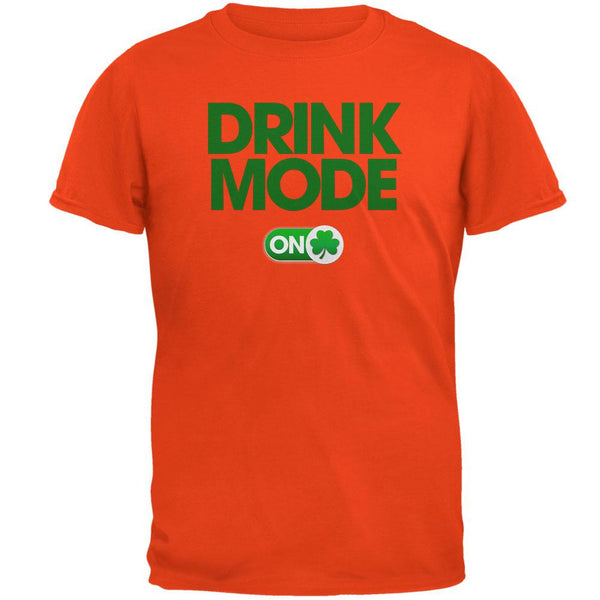 St. Patrick's Day - Drink Mode On Orange Adult T-Shirt