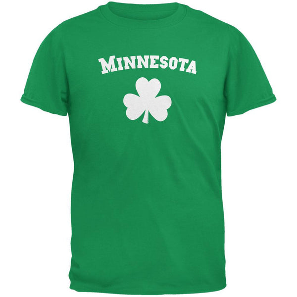 St. Patrick's Day - Minnesota Shamrock Irish Green Adult T-Shirt