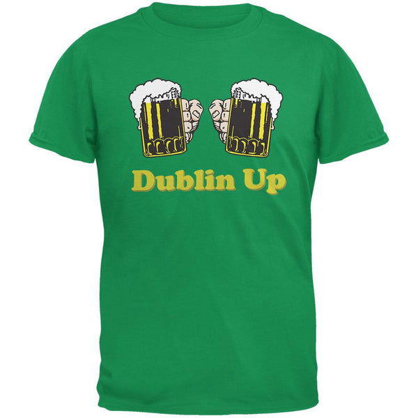 St. Patricks Day - Dublin Up Irish Green Adult T-Shirt