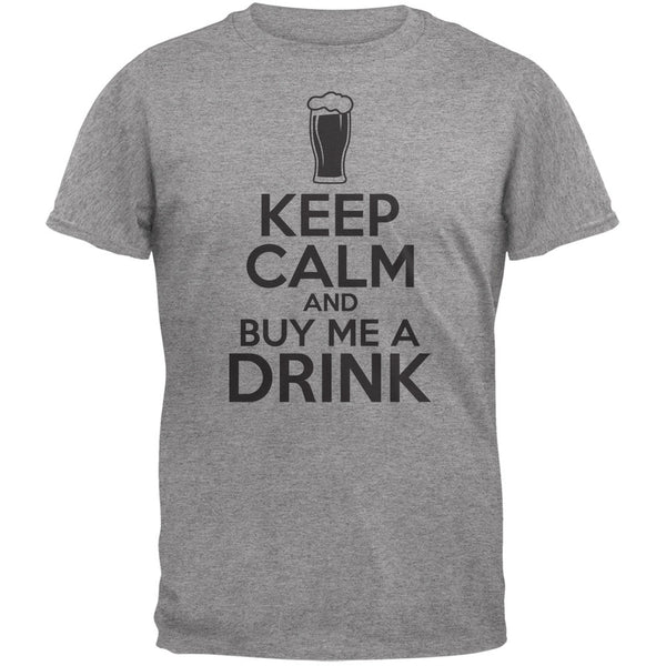 St. Patricks Day - Keep Calm Buy Me A Drink Heather Grey Adult T-Shirt