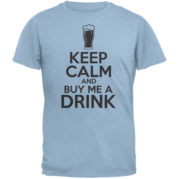 St. Patricks Day - Keep Calm Buy Me A Drink Light Blue Adult T-Shirt