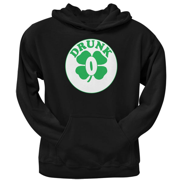 St. Patricks Day - Irish Drunk Zero Black Adult Hoodie