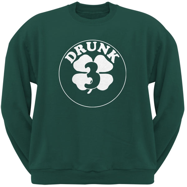 St. Patricks Day - Irish Drunk Three Forest Green Adult Sweatshirt