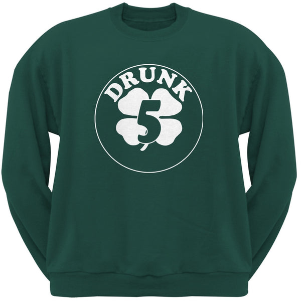 St. Patricks Day - Irish Drunk Five Forest Green Adult Sweatshirt