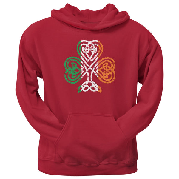 St. Patricks Day - Shamrock Knot Red Adult Hoodie