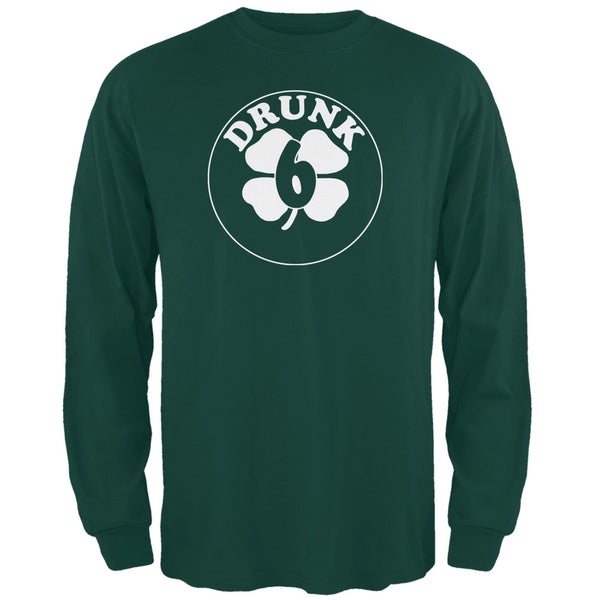 St. Patricks Day - Irish Drunk Six Forest Green Long Sleeve T-Shirt