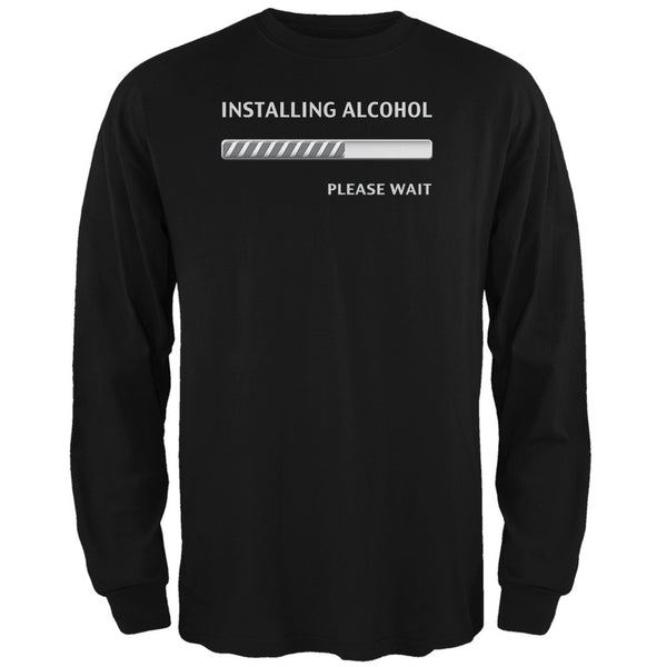 St Patricks Day - Installing Alcohol Funny Black Adult Long Sleeve T-Shirt