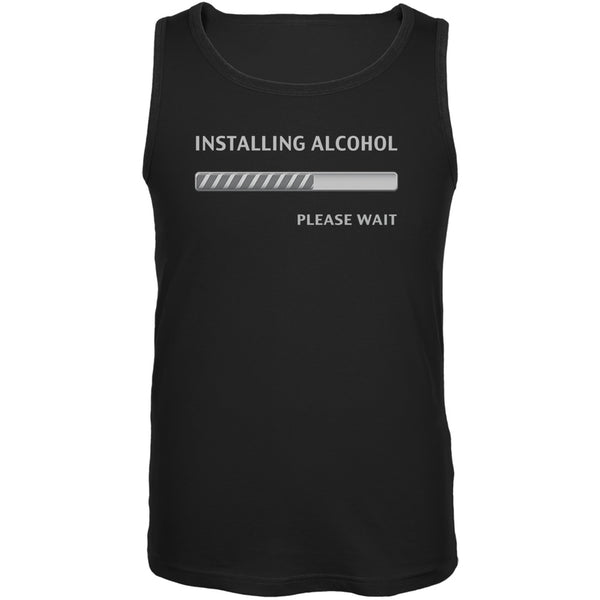 St. Patricks Day - Installing Alcohol Funny Black Adult Tank Top