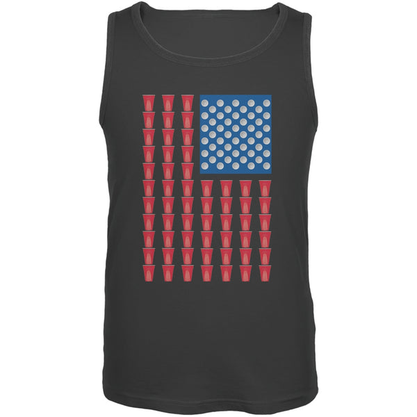 St. Patricks Day - American Flag Party Cups Charcoal Adult Tank Top