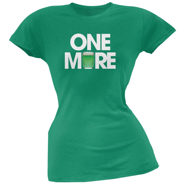 St. Patricks Day - One More Kelly Green Soft Juniors T-Shirt