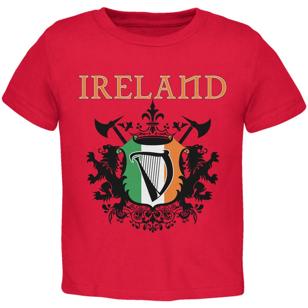 St. Patricks Day - Heraldic Irish Harp Red Toddler T-Shirt