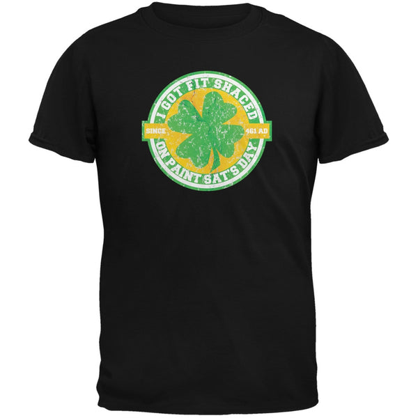 St. Patricks Day - Fit Shaced Funny Black Adult T-Shirt