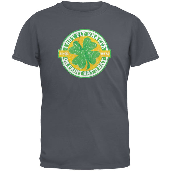 St. Patricks Day - Fit Shaced Funny Charcoal Grey Adult T-Shirt