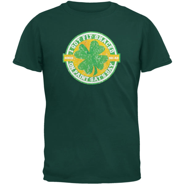St. Patricks Day - Fit Shaced Funny Forest Green Adult T-Shirt