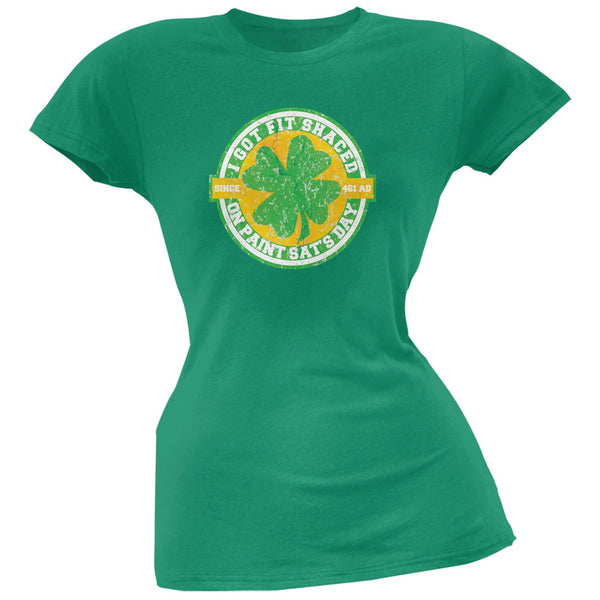St. Patricks Day - Fit Shaced Funny Kelly Green Juniors Soft T-Shirt