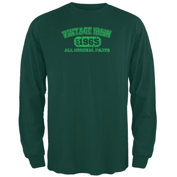 St. Patricks Day - Vintage Irish 1965 Forest Green Long Sleeve T-Shirt