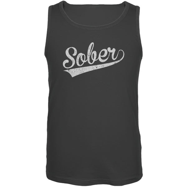 St. Patricks Day - Sober Charcoal Grey Adult Tank Top