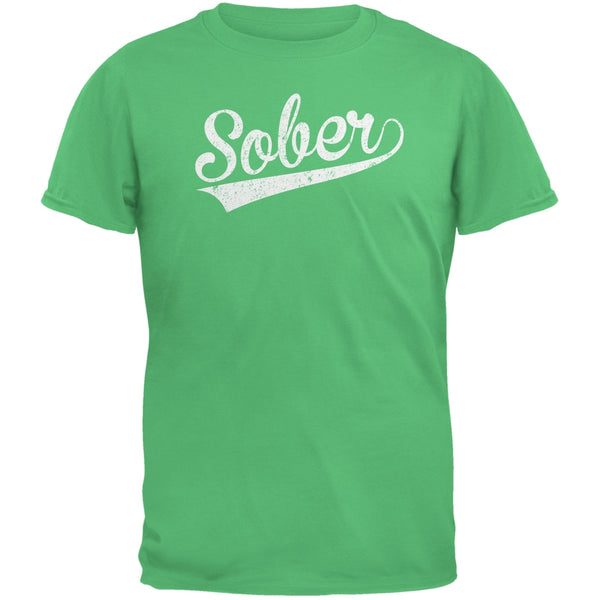 St. Patricks Day - Sober Irish Green Adult T-Shirt