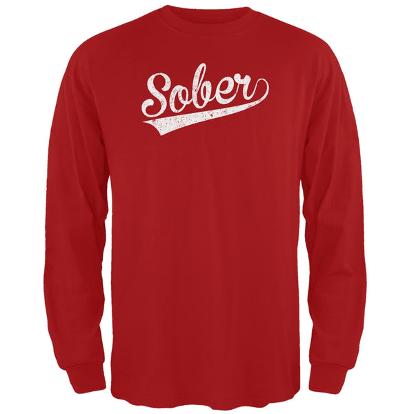 St. Patricks Day - Sober Red Adult Long Sleeve T-Shirt