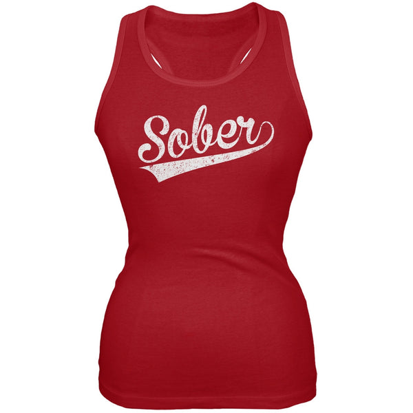 St. Patricks Day - Sober Red Soft Juniors Tank