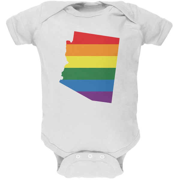 Arizona LGBT Gay Pride Rainbow White Soft Baby One Piece