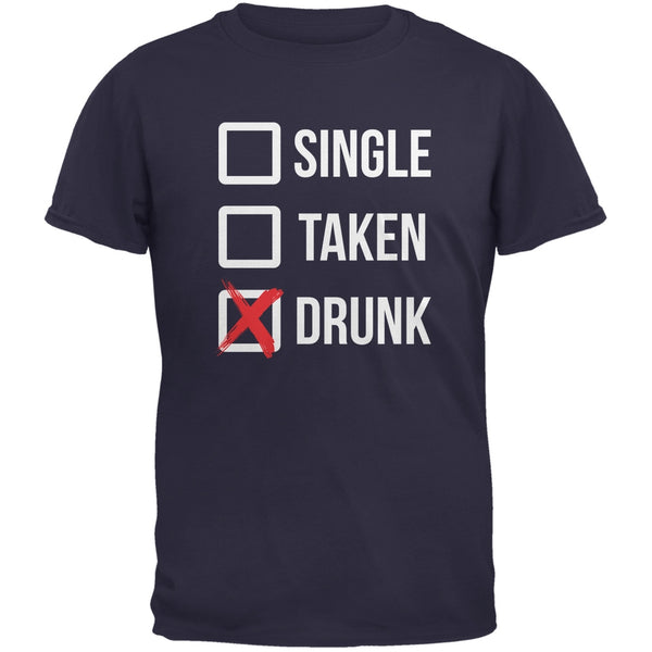 St. Patricks Day - Single Taken Drunk Navy Adult T-Shirt