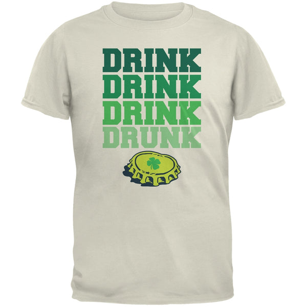 St. Patricks Day - Drink Drink Drunk Natural Adult T-Shirt