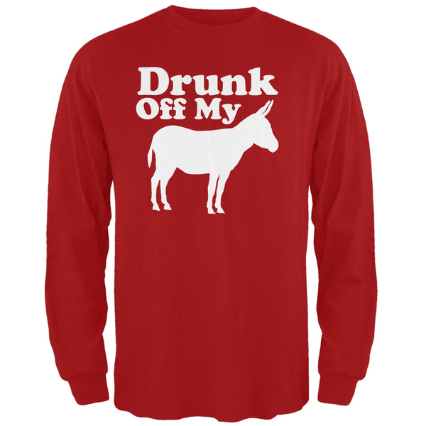 St. Patricks Day - Drunk Off My Ass Red Adult Long Sleeve T-Shirt