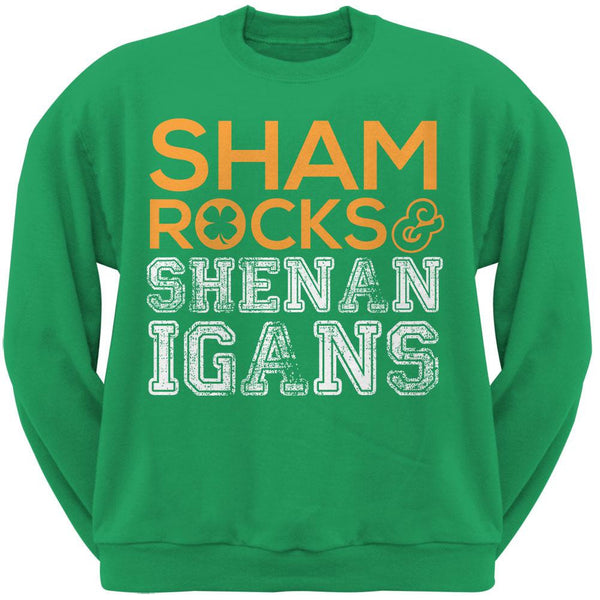 St. Patricks Day - Shamrocks & Shenanigans Green Adult Sweatshirt