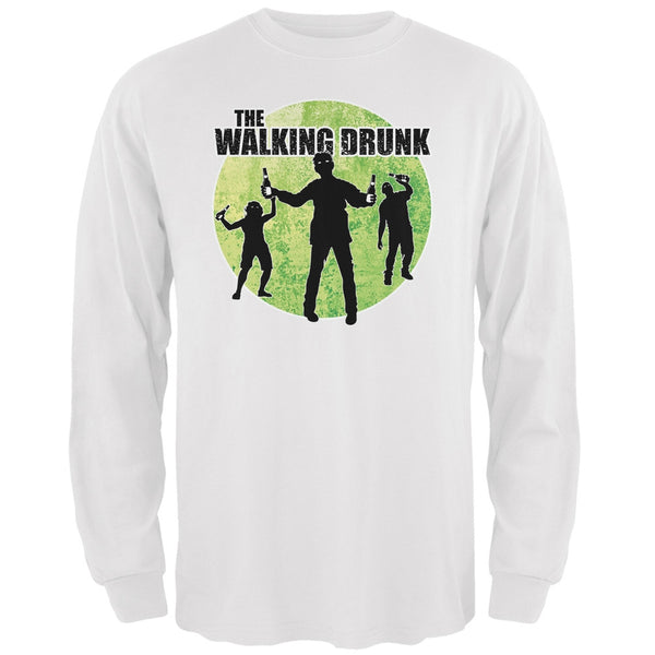 St. Patricks Day - The Walking Drunk White Adult Long Sleeve T-Shirt