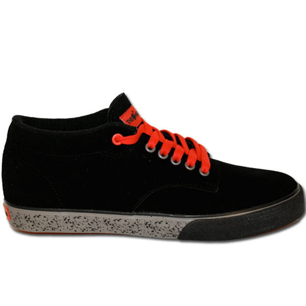 The Hundreds - Johnson Mid Top Black & Grey Sneakers