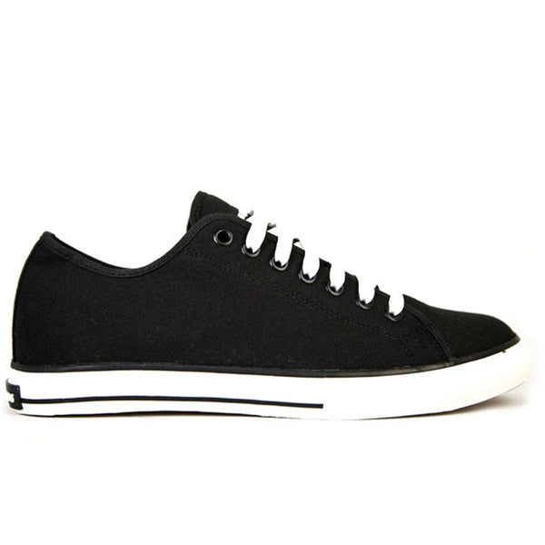 The Hundreds - Valenzuela Low Black Canvas Shoes