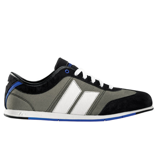 Macbeth - Brighton Black Grey and Blue Textile Shoes