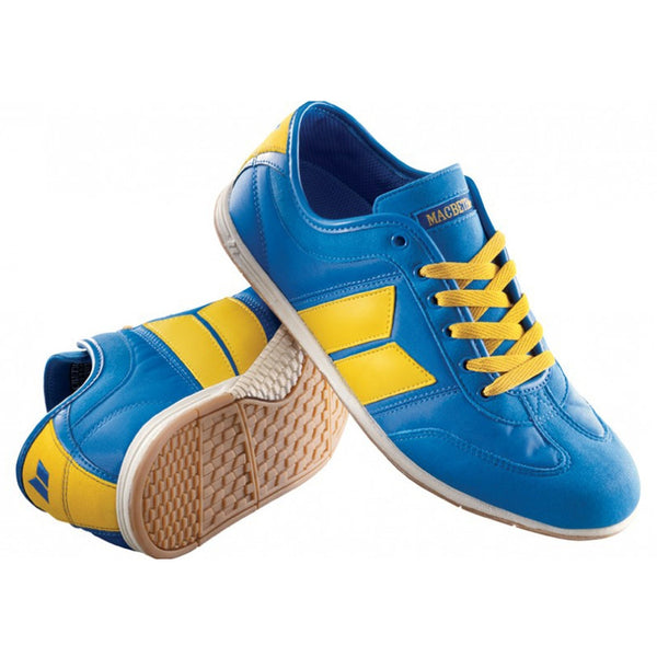 Macbeth - Brighton Retro Blue & Yellow Sneakers